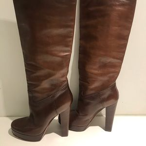 LANVIN Tall High Leather Boots size 37